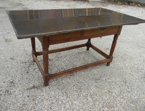 "Walnut PA. Circa 1780 Farm Table 60""l-35""dp-29""t"