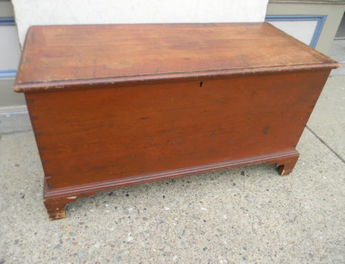 "Blanket Chest Original Red,42""wx23""t $385"