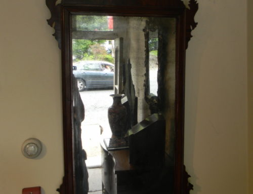"Large Size Phila Chippendale Mirror Circa 1780,54""tall"