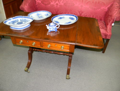 Mahogany Inlaid Sofa Table English Circa 1815