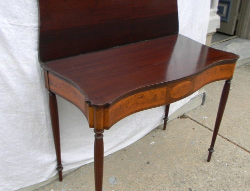 Mahogany & Satin Wood New England Game Table Circa 1810