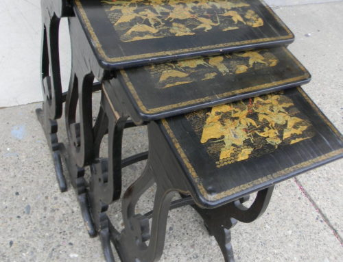 Nest of 4 Chinoserie Tables 19th century
