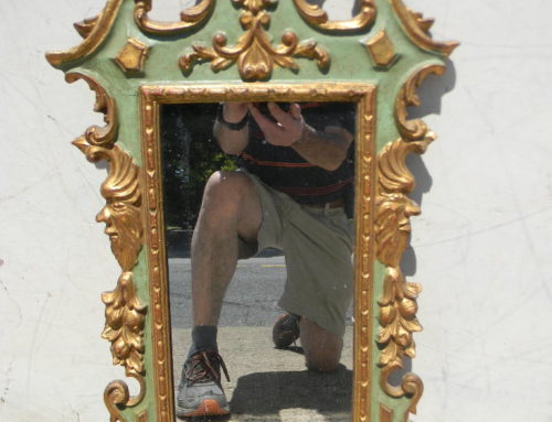 "Italian Painted Mirror 28""tall"