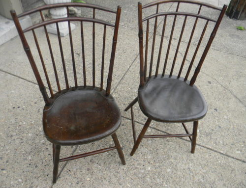 Pair Cage Back Windsor Chairs