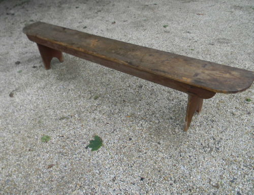 "19th Century Bench Orig. Red 86""w."