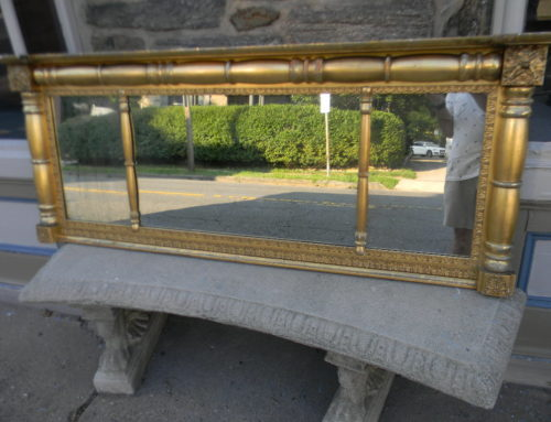 "Classical Gilt Over Mantle Mirror,66""w-26""t"