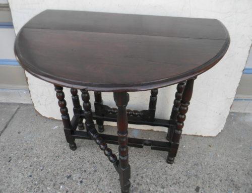 """Gate Leg Table ,Oak English Ca.1725,29""""w"""