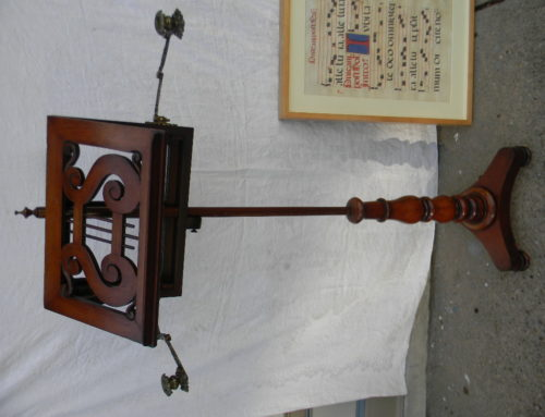 Music Stand English Regency,Mahogany,