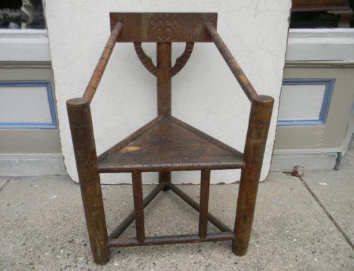 Tri Corner Oak Chair Circa 1700
