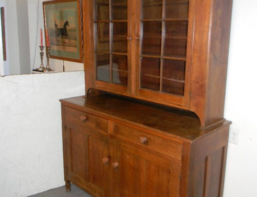 "Walnut 2 Part Dutch Cupboard,Circa 1815 55""w"