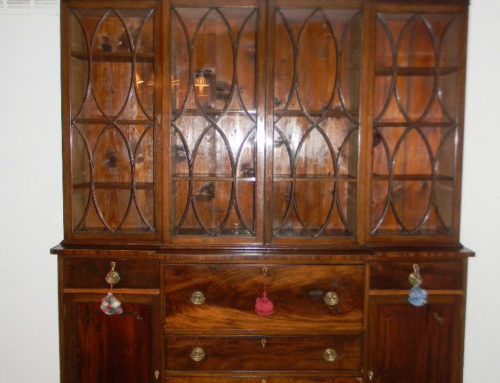 "Mahogany Breakfront,English  Ca.1820,69""w-100""t"