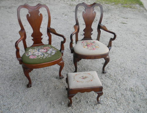 Pair Queen Anne PA. Arm Chairs