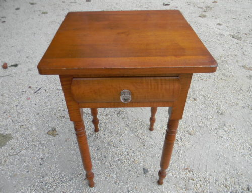 Tiger Maple 1 Drawer Table