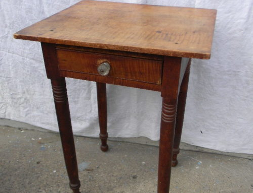 Tiger Maple Side Table