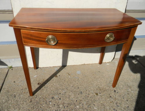 "English Bow Front Table 36""w-28""t."