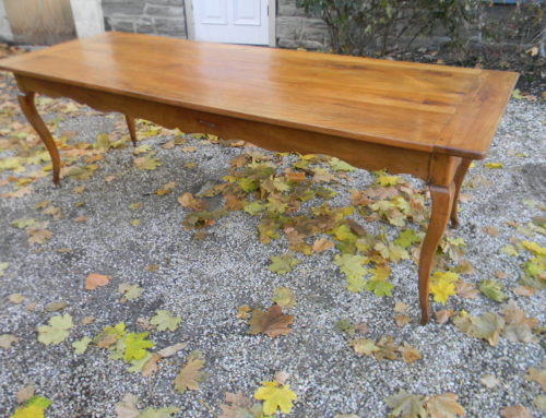 "French Fruitwood Dining Table 93""x31"" 19th cent."