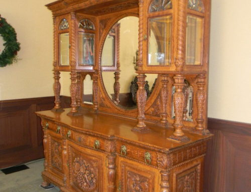 Oak Carved China Closet