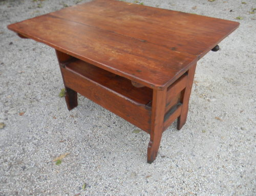 "Pine Bench Table  45""x34"" $475"
