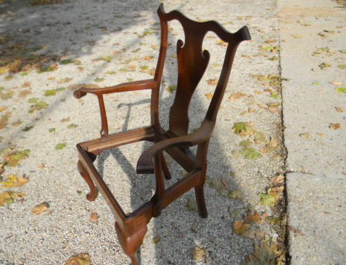 Queen Anne Walnut Phila. Arm Chair Circa 1740