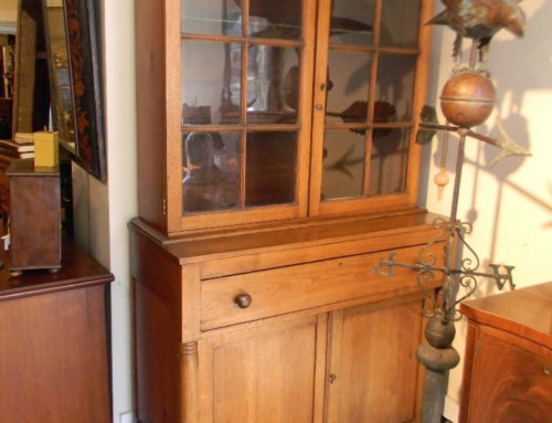 "Walnut Step Back Cupboard 43""w-Circa 1825"
