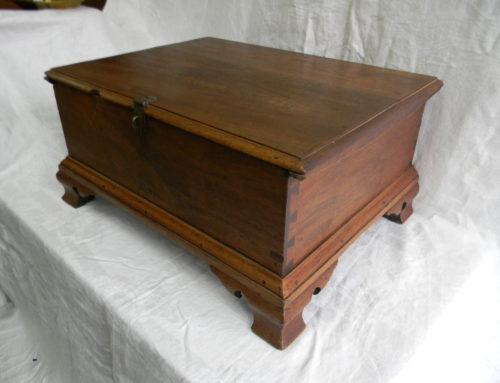 Chippendale Walnut PA.,Bible Box