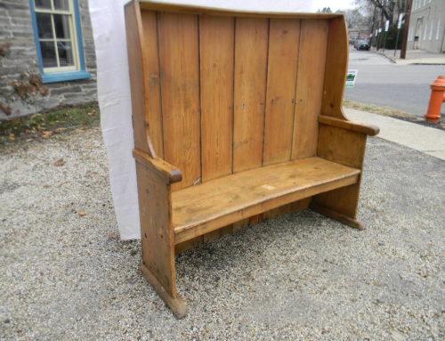 """Pine Settle Bench 59""""t-63""""w"""