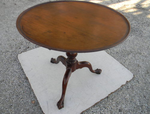 "Phila. Tea Table, 1board 33""top, Circa 1770"