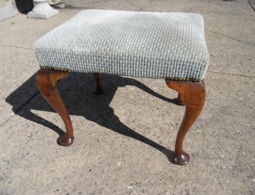 Queen Anne English Stool Circa 1740