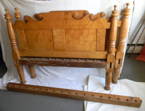"Tiger Maple Bed Circa 1815,55""wide"
