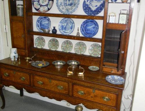 "Welsh Dresser Circa 1800,70""w-78""t."