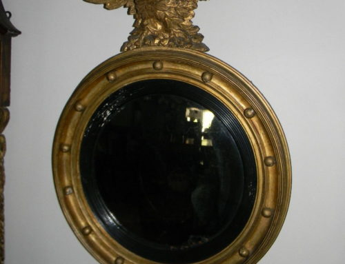 "Gilt Convex Mirror,34""tCa.18155"