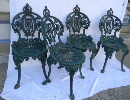 Set of 4 Iron Garden Chairs by Atlanta Stove Works