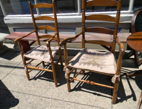 2 18th Century New England Arm Chairs