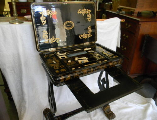 Chinoserie Decorated Sewing Table