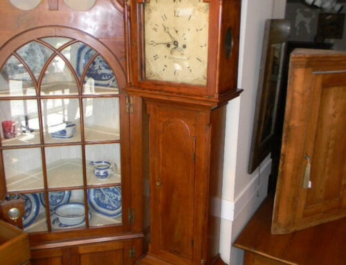 "Cherry Clock by Solomon Parke,Phila. 1795,90""t"
