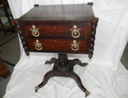 Classical Mahogany Phila. Work Table,Circa 1815