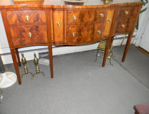 "American Inlaid Sideboard,Ca1800,73""w-41""t"