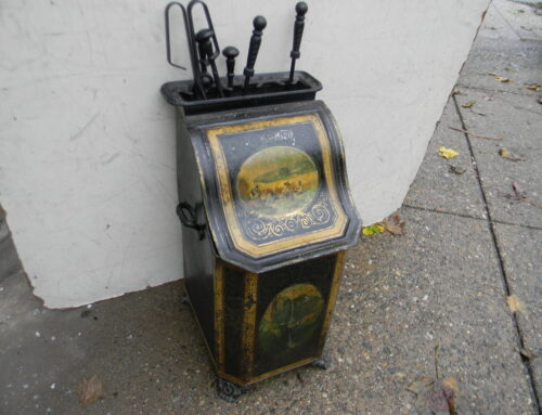 Coal Scuttle with tools