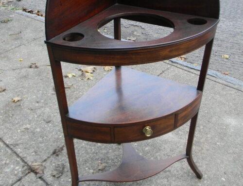Mahogany Corner Stand.$265