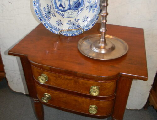 Cherry Bow Front Side Table Circa 1810