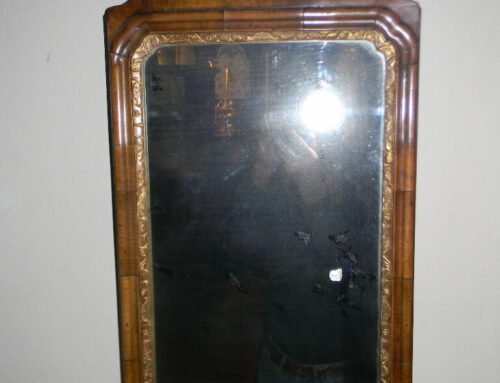 "Queen Anne Mirror 27""t-Circa 1740-50"