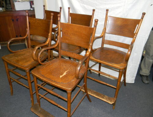 Set of Oak Billiard Chairs