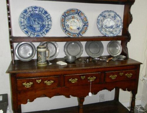"Welsh Cupboard, Circa 1780,Elm,56""w-70""t"