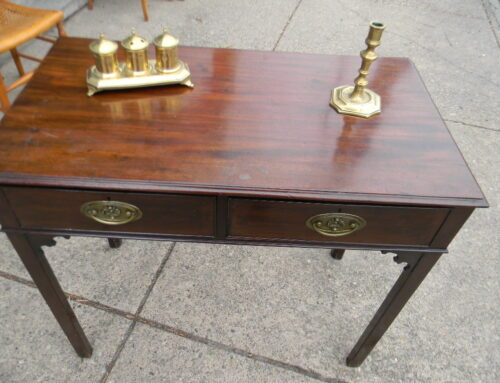 "Mahogany Table ,Circa 1790 English ,31""t-35""w."