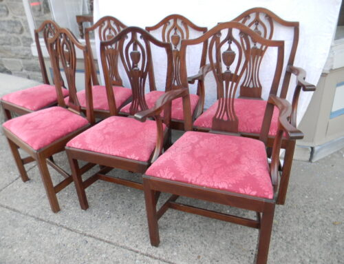 Set 8 Hepplewhite Style Chairs $2100