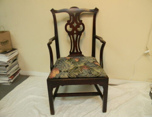 Chippendale Mahogany Arm Chair New England Ca.1780