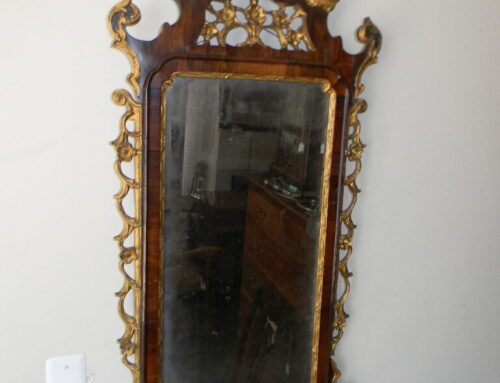 """Chippendale circa 1780 Rosewood Mirror,46""""t"""