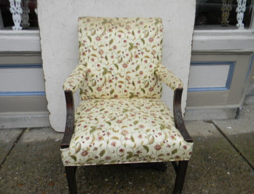 Carved Open Arm Chair,Custom $450