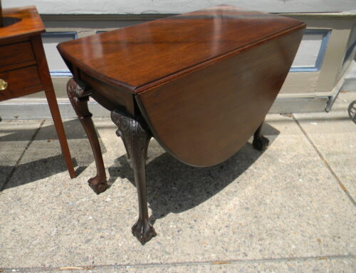 """Chippendale English Carved Table,39""""l-19""""w"""