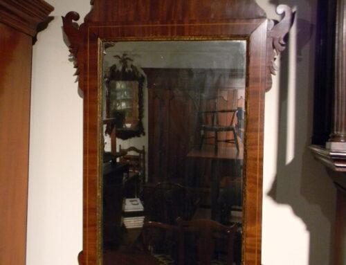 """Mahogany Inlaid Mirror,42""""t-$650"""